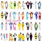 Hot Unisex Adult Pajamas Kigurumi Cosplay Costume Animal Onesie Sleepwear Suit .
