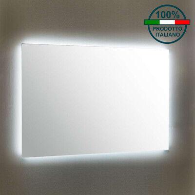 Specchio Bagno Led 100.Specchio Bagno Retroilluminato Luce A Led Specchiera Anche Su