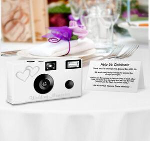 5 Double Hearts Disposable Cameras Wedding Cameras, Fuji film