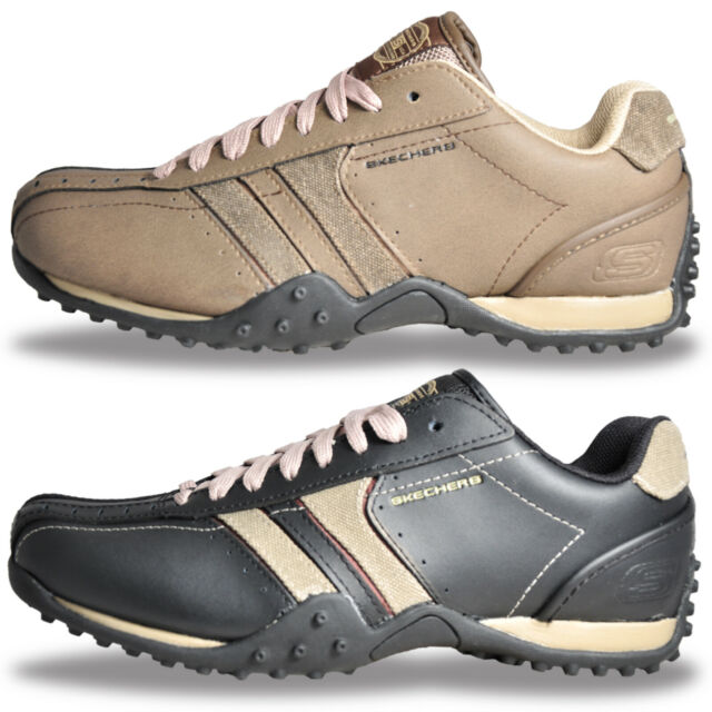Mens Skechers Urban Track Leather Casual Comfort Trainers