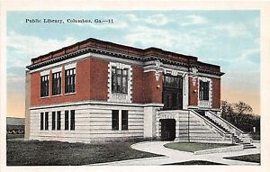 B63-Columbus-Georgia-Ga-Postcard-Muscogee-County-c1915-Public-Library