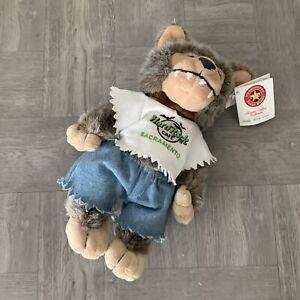 Herrington-Teddy-Bears-Hard-Rock-Cafe-Sacramento-CA-Plush-Wolf-Bear-NWT-New