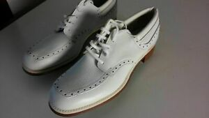 Vintage-Hitchikers-Gulf-White-Leather-Shoes-Size-6B-Man-Made-H027