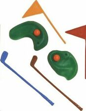1 Golf Green w/ Clubs & Flags  Cake Topper Decoration Figurine Sport Club Game