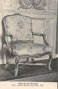 Postcard-Arts-Decorative-Chair-Furniture-Period-Louis-XV-Edit-ND-207