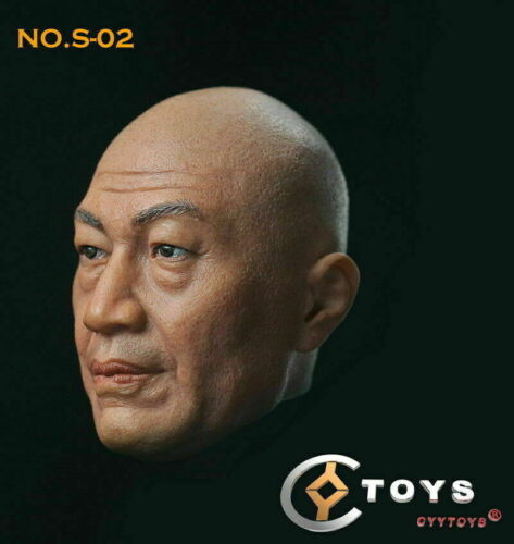 "1:6 Scale Asian Head Sculpt Carving F 12/"" Male Suntan Action Figure Body Toys"
