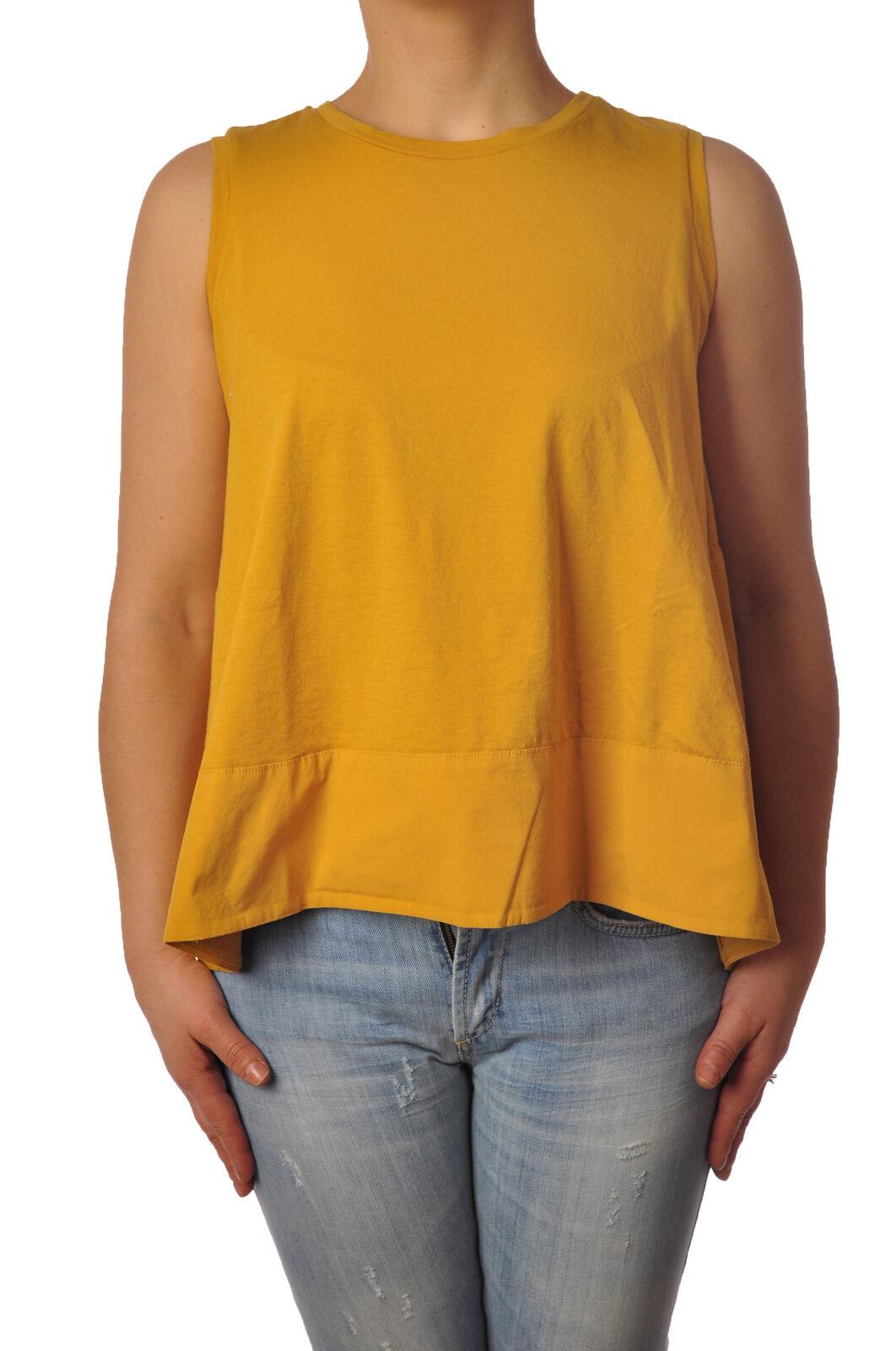 Ottod'ame - Topwear-Sleeveless Top - Woman - Gelb - 4942526E183919