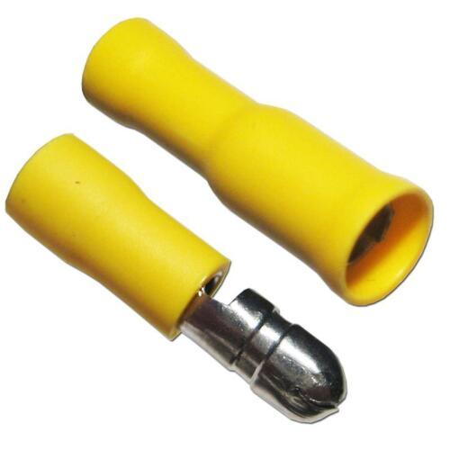 10 Paar Rundsteckverbinder für Kabel 4,0-6,0mm² GELB