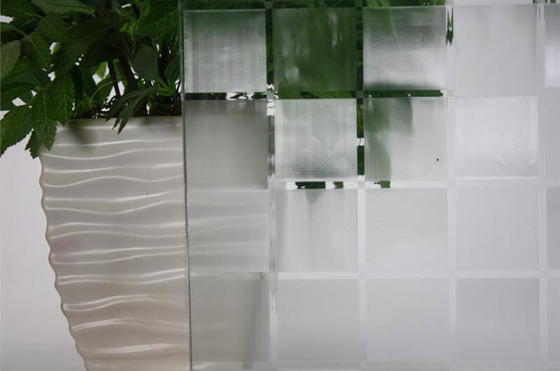 Frosted Tile Static Cling Window Film, 36  Wide x 9 ft