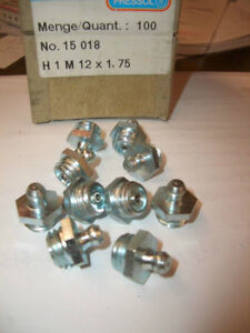 15 Stk PRESSOL Verzinkte 45° Winkel-Einschlag-Schmiernippel K2 A 10mm DIN 71412