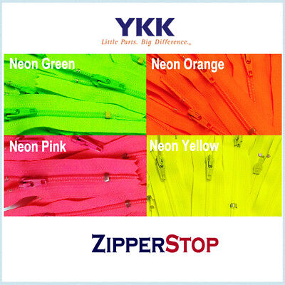 YKK 100 pcs 16 inch  Assorted Zippers All Purpose Assorted Colors