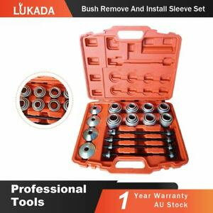 36pcs Carbon Steel Car Bearing Removal Insertion Tools Press and Pull Sleeve Kit with Storage Box Universal Car Bearing Tools