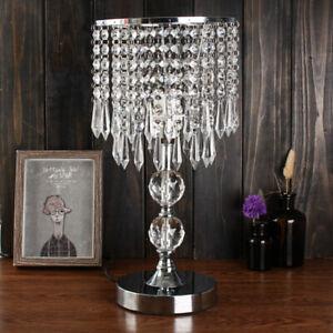 Modern Crystal Table Lamp Bedroom Light Living Room Office Chandelier Fixture 603042622805 Ebay