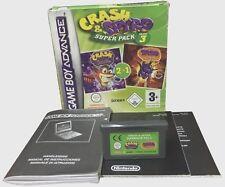 Game Boy Advance GBA **CRASH & SPYRO SUPER PACK VOLUME 3** usato funzionante