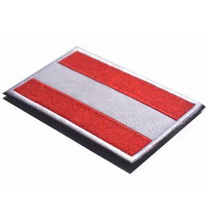austria flag the republic of austria flag aut flag badge embroidered