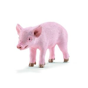 Schleich-Piglet-Standing-Animal-Farm-Figure-NEW-Educational-Toys-and-Figures