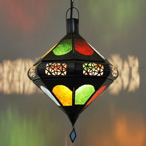 Oriental lanterne maroc lampe éclairage Suspendu Suspension Lampe Toupia Multi 40 cm