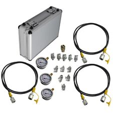Excavator Hydraulic Pressure Test Diagnostic 10 Couplings Gauge Tool Kit G 14