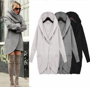 Womens-Woolen-Winter-Warm-Cardigans-Top-Long-Jacket-Hooded-Coat-Outwear-Overcoat