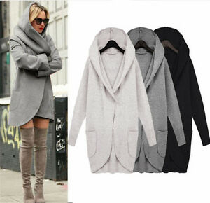 Womens-Ladies-Woolen-Warm-Tops-Casual-Long-Jacket-Hooded-Coat-Outwear-Overcoat