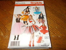 Simplicity NO SEW Pattern 2074 Ms COSTUMES Witch Devil Fairy More & Dog Costume