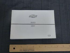 2007-Chevrolet-AVEO-Car-Owners-Manual-New-GM-Original
