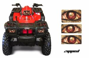 Headlight-Eye-Graphics-Kit-Decal-Cover-For-Polaris-Sportsman-500-95-04-ZIPPED