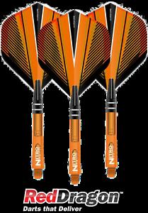 #RD060 NitroTech Orange Short Shäfte Red Dragon Darts Flights Hardcore F6415