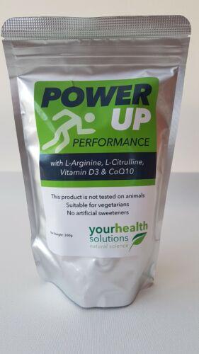 L-Arginine L-Citrulline.Vit D3 /& CoQ10 Sport Power Up Performance UK Supplier