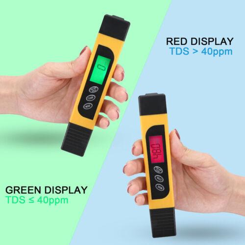 3 in1 Digital TDS EC TEMP Meter Water Quality Tester Purity Filter Pen 0-9990ppm