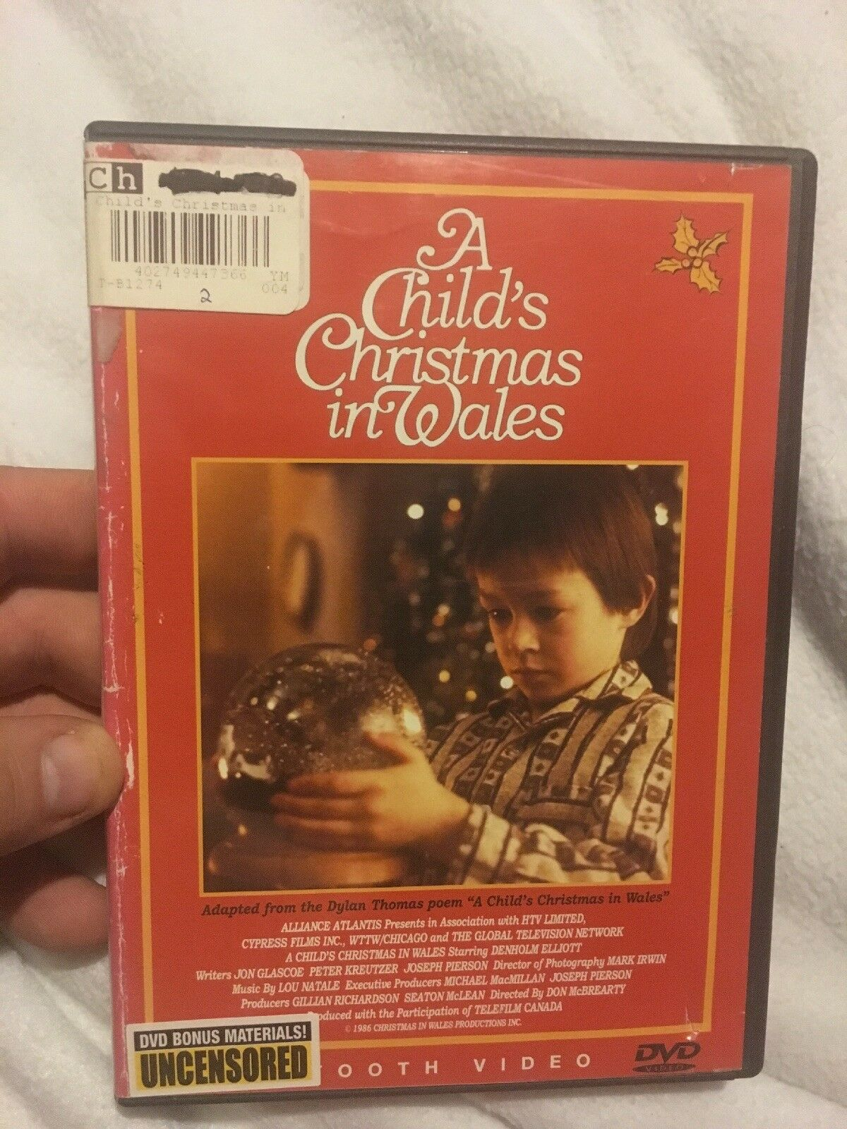 A Childs Christmas In Wales.A Childs Christmas In Wales Dvd 2005