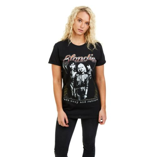 Sizes S,M,L,XL Blondie Fade Away Black Ladies T-shirt Rock