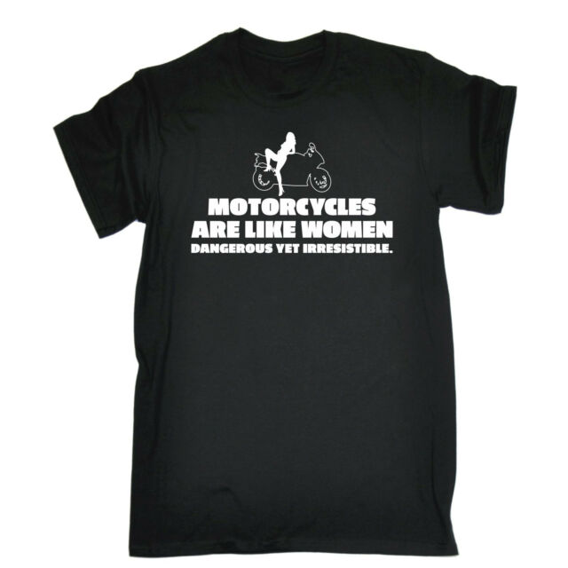 Motorcycles Are Like WOMENS T-SHIRT Biker Rider Motor Top Funny Christmas gift