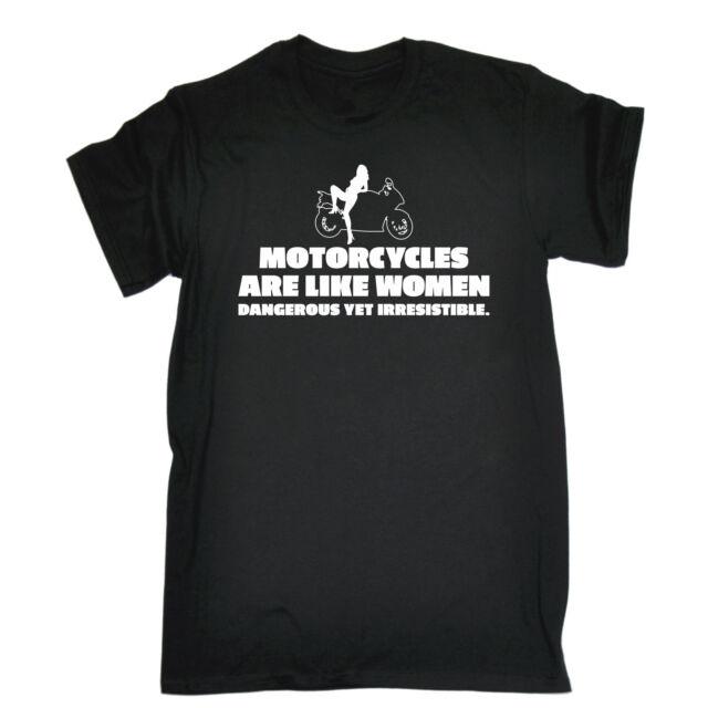 Motorcycles Are Like WOMENS T-SHIRT Biker Rider Motor Top Funny birthday gift