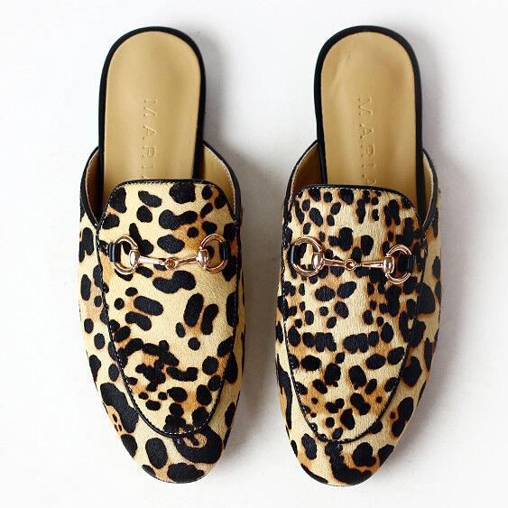 Leopard Calfhair Horsebit Princetown Princeton Synthetic Leder Slipper / Slide