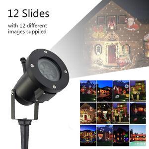 LED-Lampe-Lumiere-Laser-Projecteur-Noel-12-Modeles-Etanche-Decoration-Exterieur