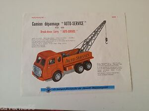 planche joustra camion depannage auto service provenant du catalogue 1960 tarif ebay. Black Bedroom Furniture Sets. Home Design Ideas