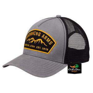 NEW-BROWNING-RANGER-MESH-BACK-HAT-BALL-CAP-BUCKMARK-ARMS-PATCH-LOGO-GRAY