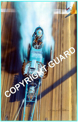 "Billy /""the kid/"" Scott at Riverside 1966....Drag Racing Art by David Carl Peters"