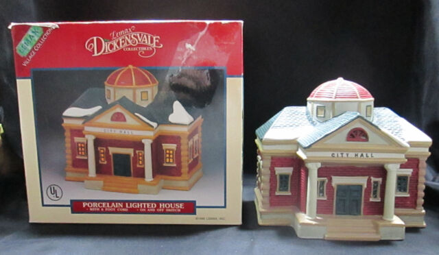 city hall lemax dickensvale christmas village collection lighted porcelain boxed
