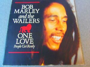 """Bob Marley """"One Love/ People Get Ready (extended)"""" 12"""" (p/s) Ex/EX"""
