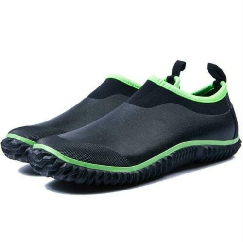 Men Womens Waterproof Ankle Rubber Rain Boots Car wash Muck Mud Garden Shoes