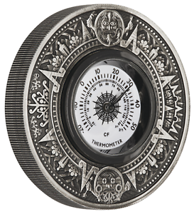 Australia-2018-Thermometer-2oz-2-Silver-Antiqued-Coin-Operational-Dial