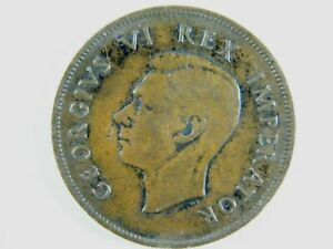 Moneda-South-Africa-1-Penny-1D-1937-British-Dominiom-George-VI-World-Coins