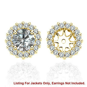 Image Is Loading White Si2 Diamond Halo Solitaire Stud Bridal Earrings