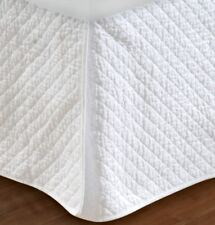 Greenland Home Fashions Diamond Quilted Bed Skirt Queen | eBay : white quilted bed skirt - Adamdwight.com