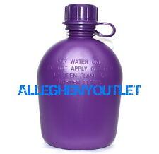 US Military 1 Quart QT HARD RIGID PLASTIC CANTEEN ARMY Purple 1QT BPA Free NEW