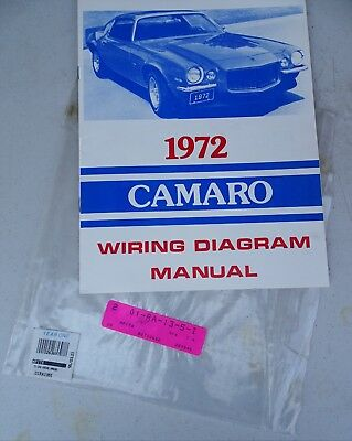 1972 Chevrolet Camaro Wiring Diagram Manual 72 Chevy Vtg Auto Car Classic Year 1 Ebay