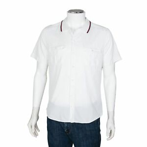 9b32d27d Gucci Men's Short Sleeve White Button Up Cotton Shirt - Size 41 | eBay
