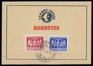 All. Restreints. Hanovre Messe 1948 Messe-spécial Carte Cn91-rte Cn91afficher Le Titre D'origine